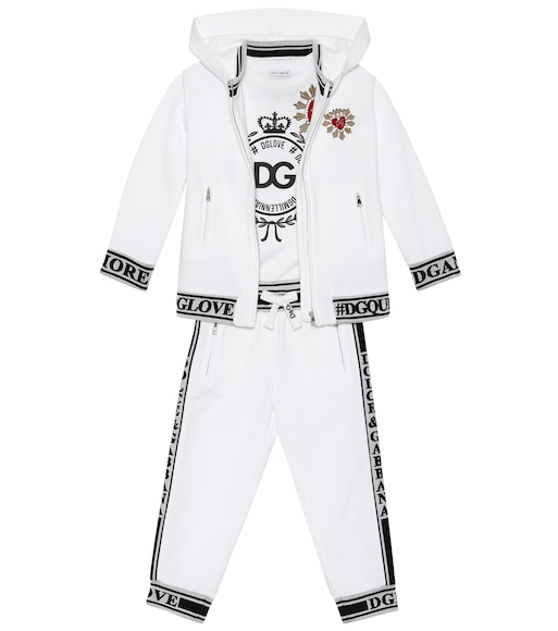 Dolce & Gabbana Kids - Embellished Heart cotton hoodie - mytheresa.com