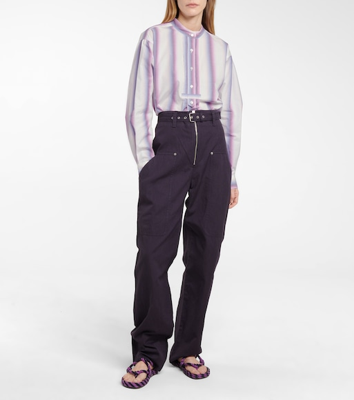 Isabel Marant, Étoile - Paggy belted cotton and linen pants - mytheresa.com