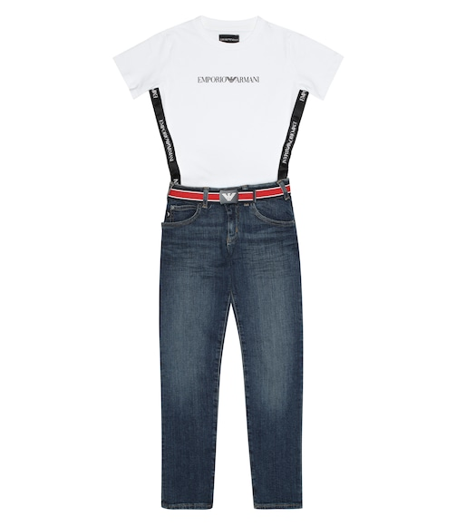 Emporio Armani Kids - Striped canvas belt - mytheresa.com