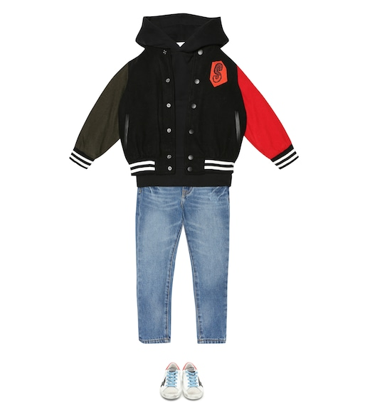 Stella McCartney Kids - Wool-blend bomber jacket - mytheresa.com