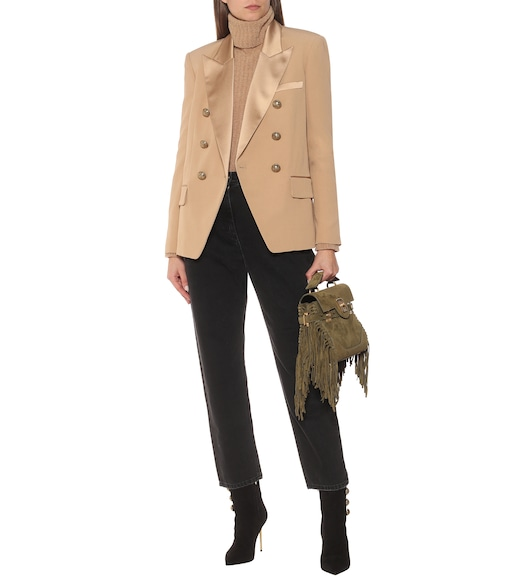 Balmain - Double-breasted blazer - mytheresa.com