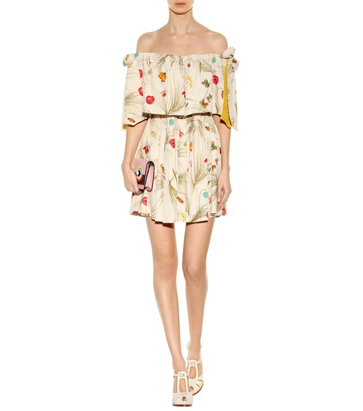 Fendi - Exclusive to mytheresa.com – off-the-shoulder printed dress - mytheresa.com