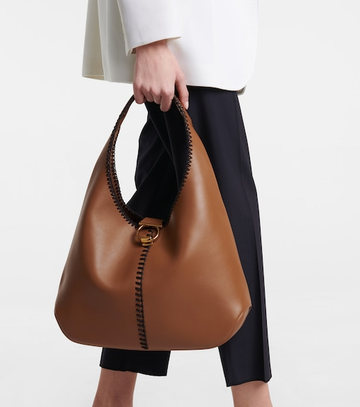 Salvatore Ferragamo - Margot leather tote - mytheresa.com