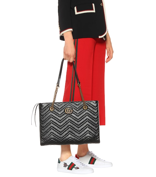 Gucci - GG Marmont Medium leather tote - mytheresa.com