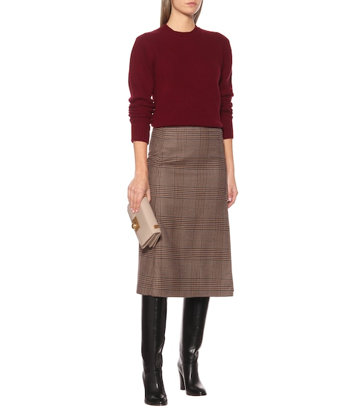 Loro Piana - Enya checked stretch-wool midi skirt - mytheresa.com