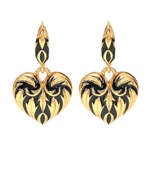 Oscar de la Renta - Painted heart earrings - mytheresa.com