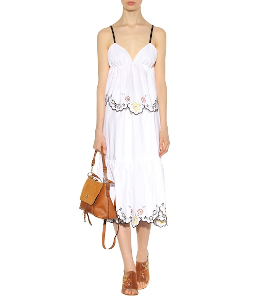 See By Chloé - Embroidered cotton tank top - mytheresa.com