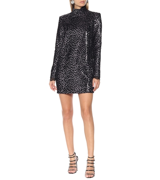 Philosophy Di Lorenzo Serafini - Sequined leopard minidress - mytheresa.com
