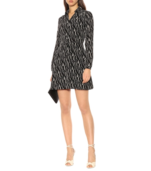 Saint Laurent - Printed silk minidress - mytheresa.com