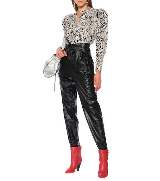 Isabel Marant - Duard faux-leather slim pants - mytheresa.com