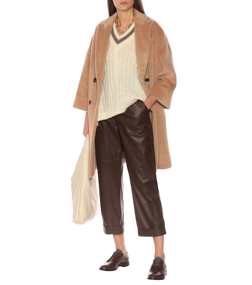 Brunello Cucinelli - Mohair and wool-blend poncho - mytheresa.com