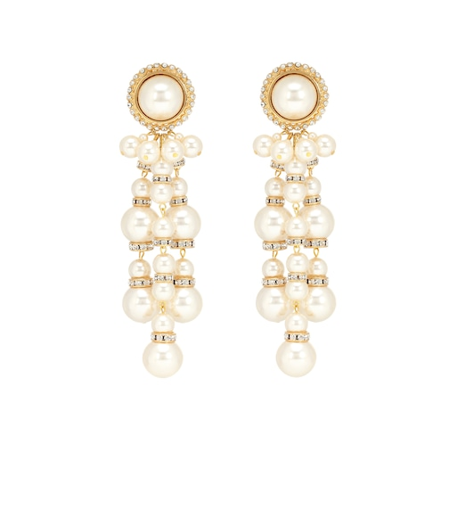 Alessandra Rich - Embellished drop earrings - mytheresa.com