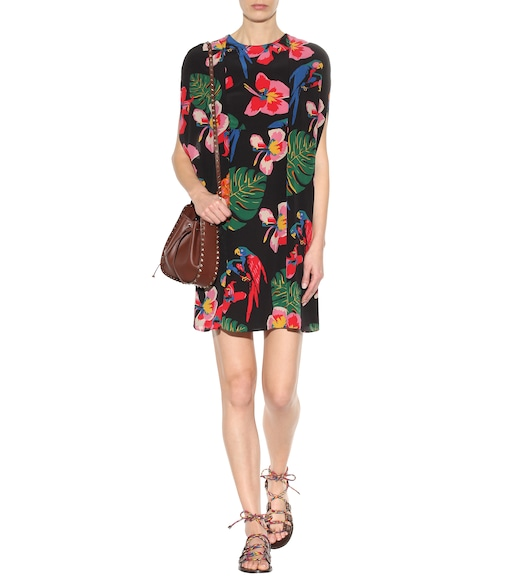 Valentino - Printed sleeveless silk dress - mytheresa.com