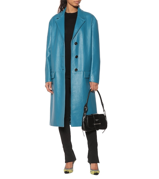 Prada - Leather coat - mytheresa.com