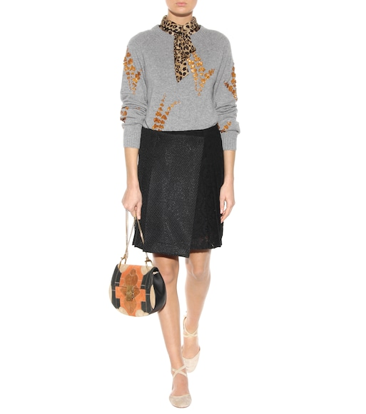 mytheresa.com - Drew Small Flower Patchwork leather and suede ...