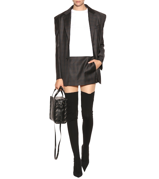 Balenciaga - Knife stretch-jersey over-the-knee boots - mytheresa.com