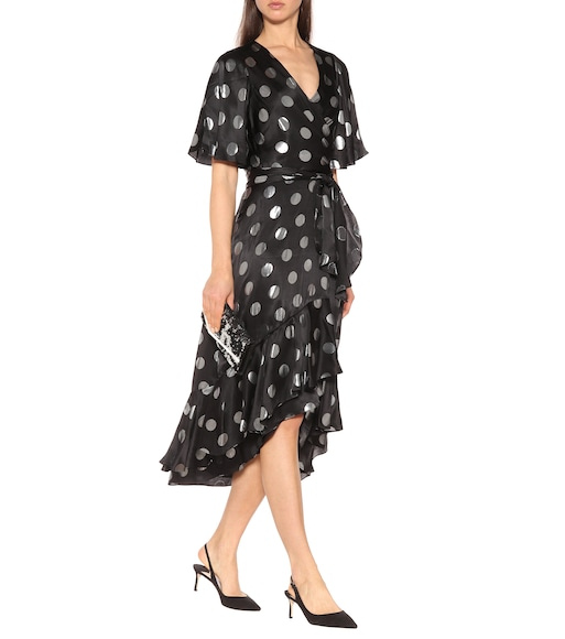 Diane von Furstenberg - Sareth polka-dot silk-blend dress - mytheresa.com