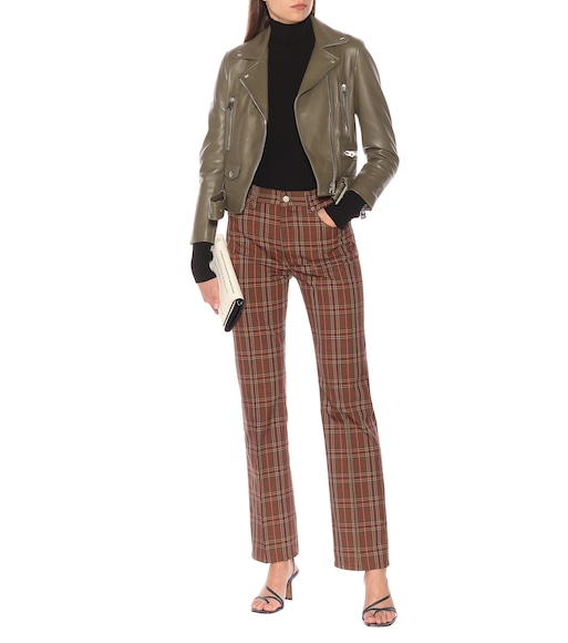 MM6 Maison Margiela - Checked wool-blend pants - mytheresa.com