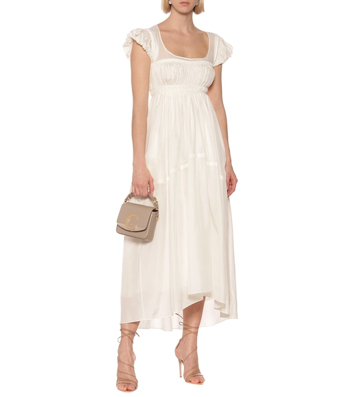 Chloé - Silk-pongé maxi dress - mytheresa.com
