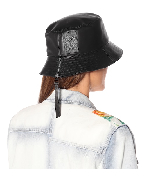 Loewe - Leather bucket hat - mytheresa.com