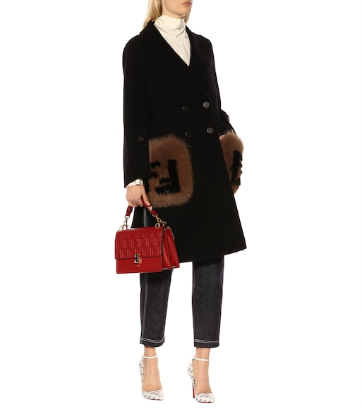Fendi - Fur-trimmed wool coat - mytheresa.com