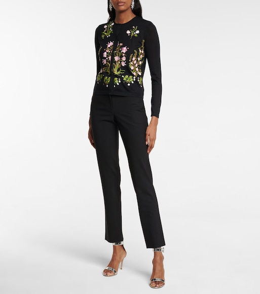 Giambattista Valli - Floral cashmere and silk cardigan - mytheresa.com