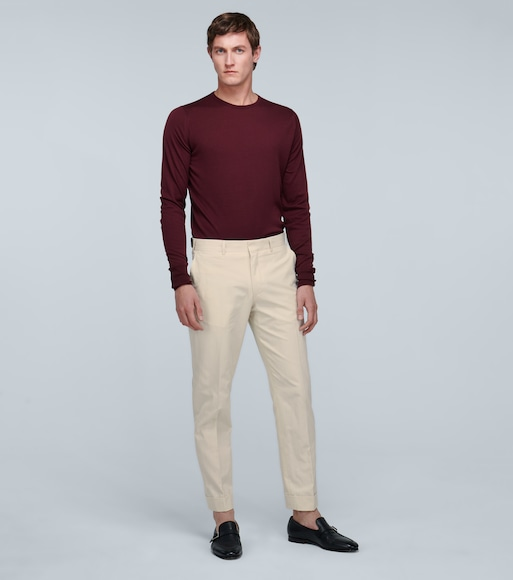 Dries Van Noten - Cotton tapered pants - mytheresa.com