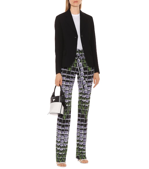 Prada - Printed high-rise jersey pants - mytheresa.com