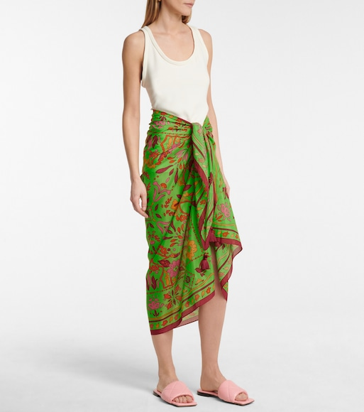Tory Burch - Printed cotton and silk sarong - mytheresa.com
