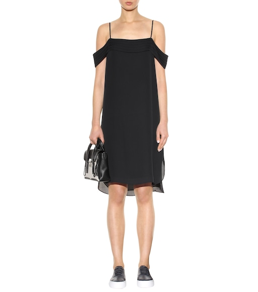 T by Alexander Wang - Silk off-the-shoulder dress - mytheresa.com