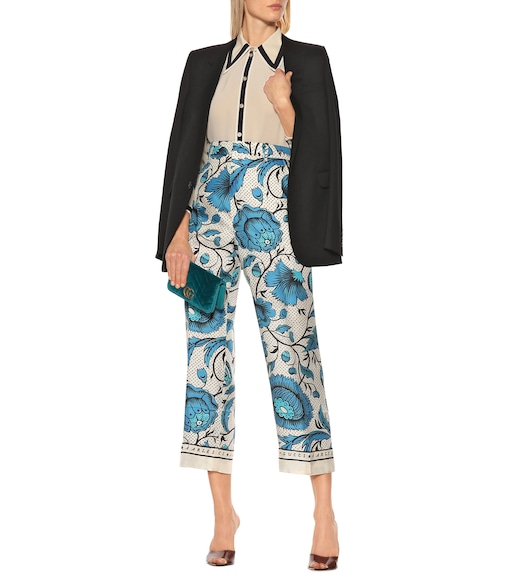 Gucci - Floral silk twill pants - mytheresa.com